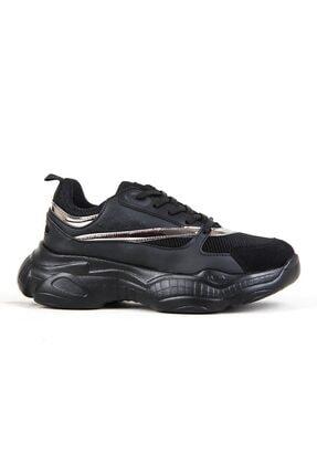 Conpax Kadın Siyah Günlük Yürüyüş Spor Ayakkabı 0