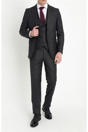 تصویر از Erkek Antrasit Slim Fit Klasik Takım Elbise Tk 786