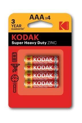 Kodak Aaa 4 Adet Blisterli Çinko Karbon İnce Pil 0