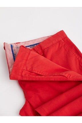 Dufy Kırmızı Düz Pamuklu Likra Erkek Pantolon - Slım Fıt 1