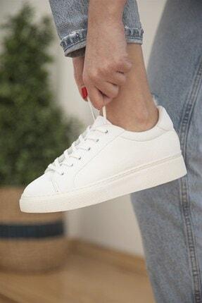 Straswans Kadın Sweet Deri Spor Ayakkabı Beyaz 0