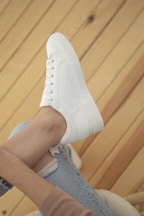 Straswans Kadın Sweet Deri Spor Ayakkabı Beyaz 4