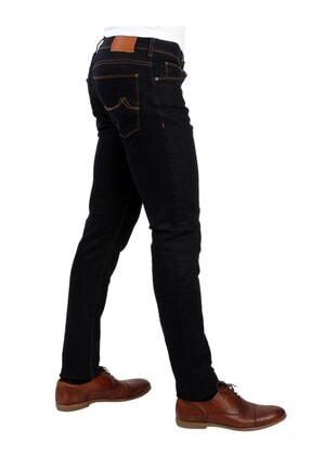 Dufy Koyu Lacivert Erkek Kot Pantolon - Slım Fıt Jeans 1