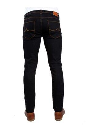 Dufy Koyu Lacivert Erkek Kot Pantolon - Slım Fıt Jeans 3