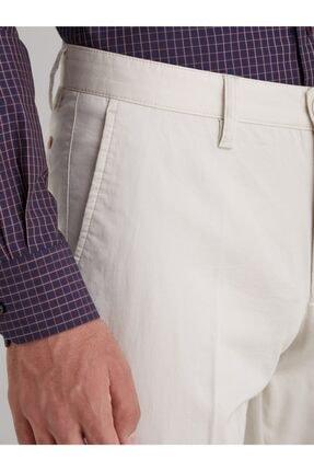 Dufy Taş Düz Pamuklu Saten Erkek Pantolon - Regular Fıt 1