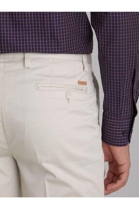 Dufy Taş Düz Pamuklu Saten Erkek Pantolon - Regular Fıt 2