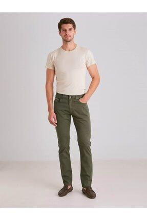 Dufy A.haki Pamuk Likra Karışımlı Erkek Pantolon - Modern Fit 0