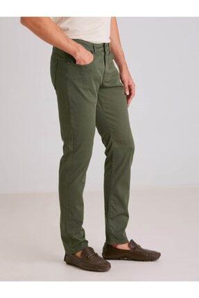 Dufy A.haki Pamuk Likra Karışımlı Erkek Pantolon - Modern Fit 2