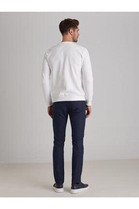 Dufy Erkek Beyaz Düz  Slım Fıt Sweatshirt 3