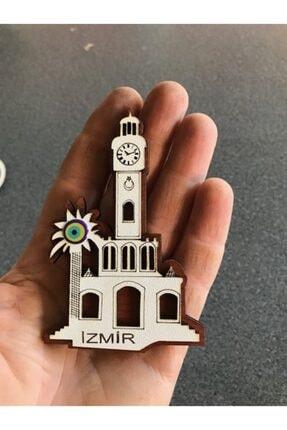 Lazer Ahşap Izmir Saat Kulesi Magnet Buzdolabı Süsü 1