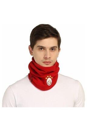 Galatasaray Unisex Kırımızı Polar Boyunluk Bere 1