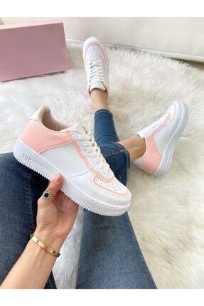 ELSESHOES Kadın Pudra Beyaz Sneaker 0