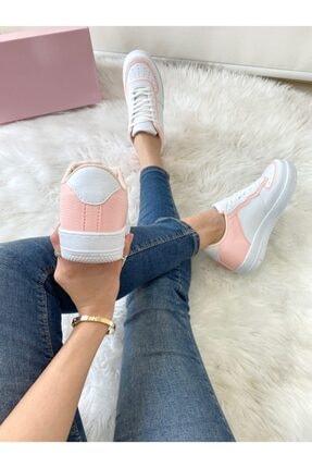 ELSESHOES Kadın Pudra Beyaz Sneaker 3