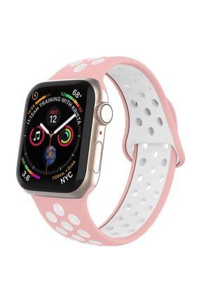 Robotekno Apple Watch Silikon Delikli Kordon Iwatch Uyumlu Kayış Seri 1 | 2 | 3 | 4 | 5 - 38mm/40mm 0