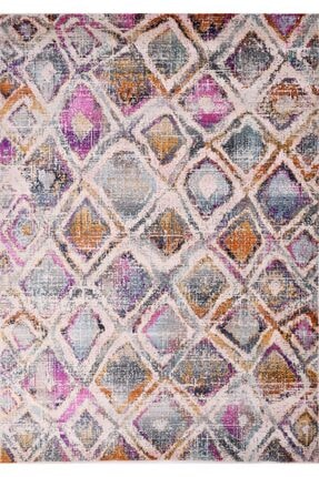 Anatolian Puzzle Beyaz Polyester Retro Halı 0