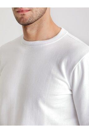 Dufy Beyaz Düz Erkek Sweatshırt - Modern Fit 1