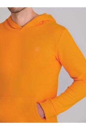 Dufy Sarı Içi Polarlı Kapüşonlu Erkek Sweatshırt - Modern Fıt 1