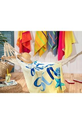 English Home Aloha Baskılı Plaj Havlusu 80x150 Cm Turuncu 2