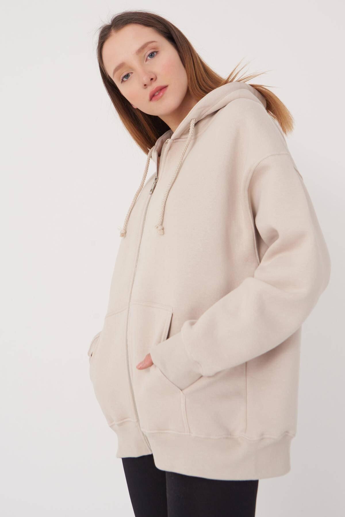 Kadın Taş Sweatshirt H9520 - K9 ADX-0000023663