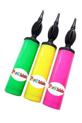 Parti Dolabı 1 Adet Renkli Balon Şişirme Pompası 0