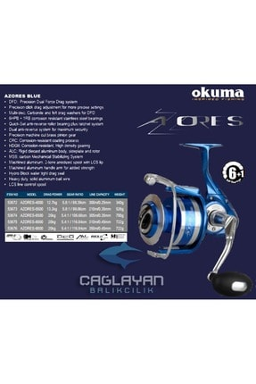 Okuma Azores Blue 5500 Olta Makinesi 1