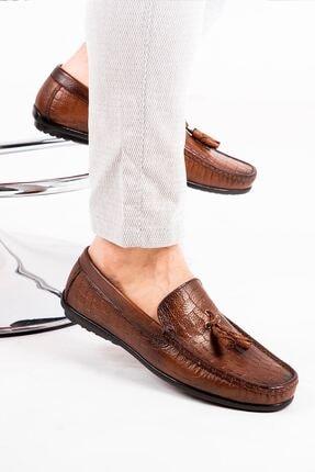 MPP Hakiki Deri Loafer Erkek Ayakkabı Atk6800 Taba 1