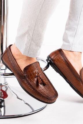 MPP Hakiki Deri Loafer Erkek Ayakkabı Atk6800 Taba 2