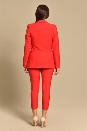 Modakapimda Kadın Kırmızı Ceket Pantolon Takım 3