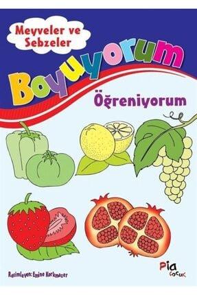 Pia Çocuk Yayınları Boyuyorum Öğreniyorum - Meyveler Ve Sebzeler 0