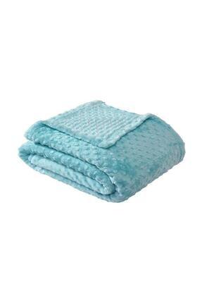 Merinos Pearl Tomurcuk Aqua Mint Çift Kişilik Battaniye 1