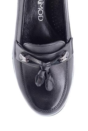 Derimod Kadın Deri Püskül Detaylı Dolgu Topuk Ayakkabı 4
