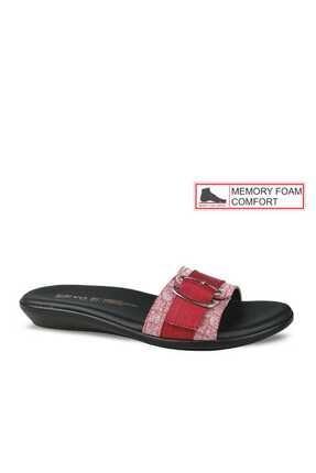 Ceyo Kırmızı Kadın Terlik 02201 0