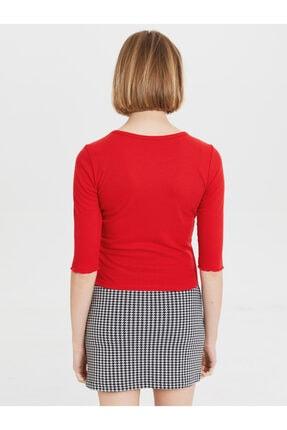 LC Waikiki Kadın Canlı Kırmızı  Tişört 4