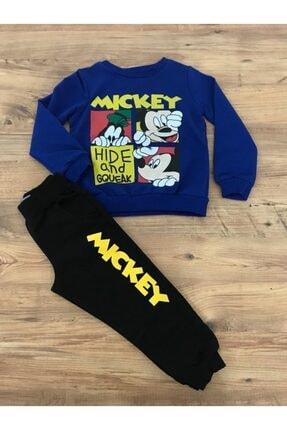 Picture of Erkek Çocuk Mickey And Hide Mavi Eşofman Takım