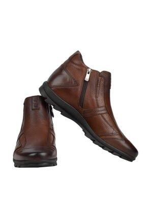 MARCOMEN 09717 Kahve %100 Deri Casual Erkek Bot Ayakkabı 2