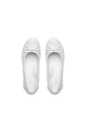 Kemal Tanca Kız Çocuk Beyaz Derı Ayakkabı 406 3020 Cck 26-36 Y19 Babet 2