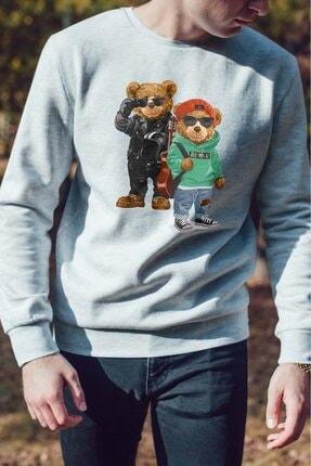 Burlu Kanka Cool Ayılar Üç Iplik Sweatshirt 2