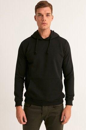 Fullamoda Erkek Siyah Kapüşonlu Sweatshirt 2