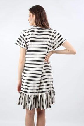 ALEXANDERGARDI Önü Düğmeli, Şeritli Elbise, Beyaz (B20-147607) 3