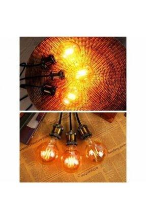 EDİSON G95 Flamanlı Rustik 4w Led Ampul 10'lu Dekoratif Vintage Aydınlatma 3