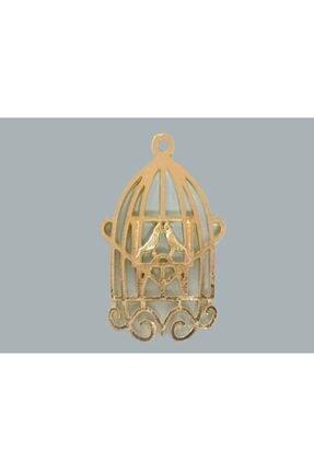 Altın Mini Metal Çift Kuşlu Kafes - 10 Adet 435.050.15