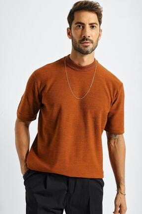 CHUBA Erkek Oversize Triko T-shirt Tarçın 20w188 0