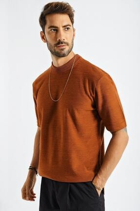CHUBA Erkek Oversize Triko T-shirt Tarçın 20w188 1