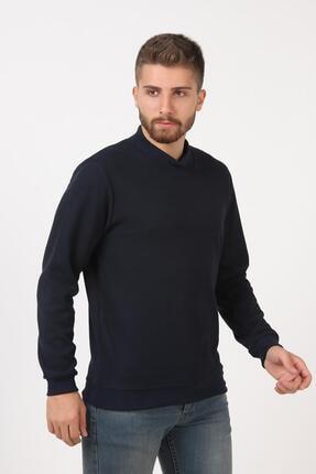 Tena Moda Erkek Lacivert Yarım Balıkçı Yaka Selanik Sweatshirt 2