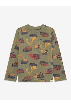 Desenli Uzun Kollu T-shirt resmi