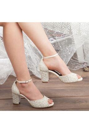 Adım Adım Sedef Platform Topuk Bilekten Bağlama Abiye Gelin Kadın Ayakkabı • A192ysml0013 3