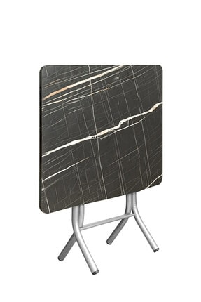 ORMANCA Katlanır Kırma Kabartma Taş Desen 60x60 Katlanabilir Masa 1