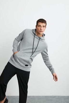 GRIMELANGE Jorge Erkek Grimelanj Basic Kapüşonlu Sweatshirt 0