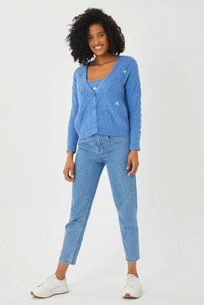 Mio Secret Kadın Nakışlı Hırka Ve Crop Bluz Triko Takım Htkm-2001 4