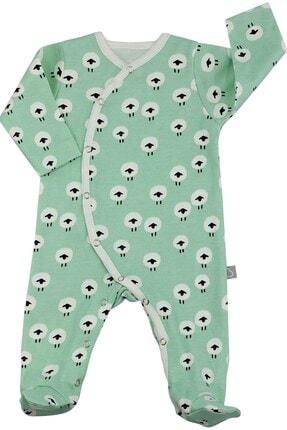Boumini Yeni Doğan Patikli Bebek Tulumu 0-6 Ay Meradaki Kuzu 0